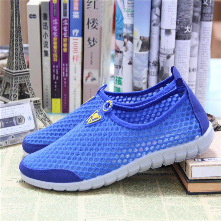 春夏季男士凉鞋男女网眼单鞋老北京平底透气网鞋休闲运动鞋网布鞋