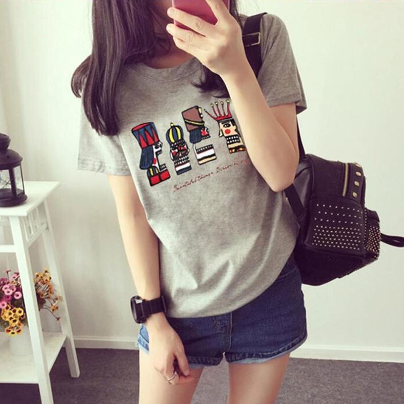 2016夏裝 女裝 閨蜜姐妹裝寬鬆短袖T恤學生大碼半袖上衣潮