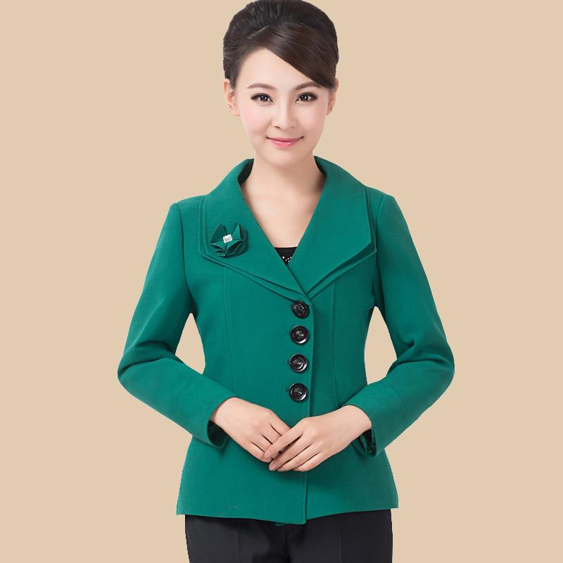 Должности среднего и старые возрасте женщин одежда пальто плюс размер весной загружен среднего возраста мамы и мало Жакеты длинные малые костюмы