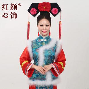 出租清朝服饰 蓝色毛毛嫔妃常在甄嬛传服装 ?#26412;?#31199;古装 戏服推荐