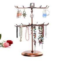 Two-layer rotating necklace pendant display rack jewelry display rack bracelet jewelry display Frame