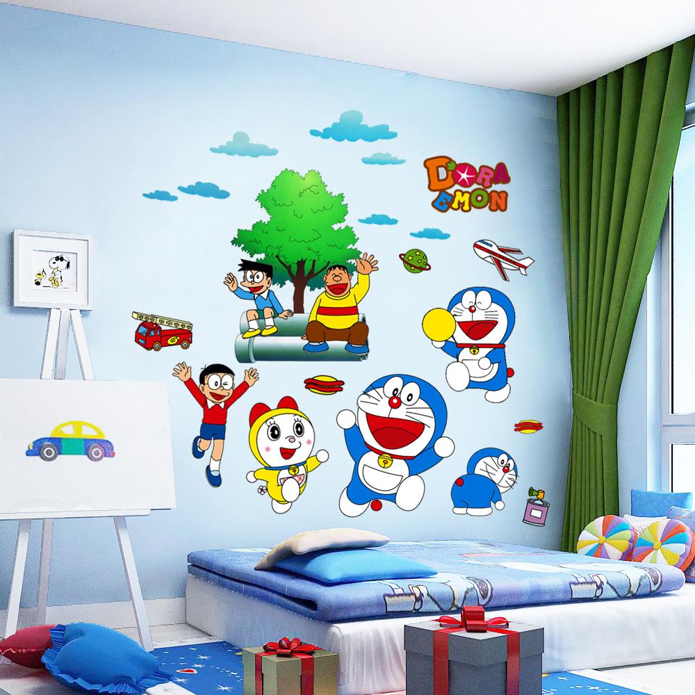 Мультфильм животных переполнение наклейки для стен живопись мальчик ребенок комната декоративный обои самоклеящийся спальня теплый детский сад стена живопись наклейки