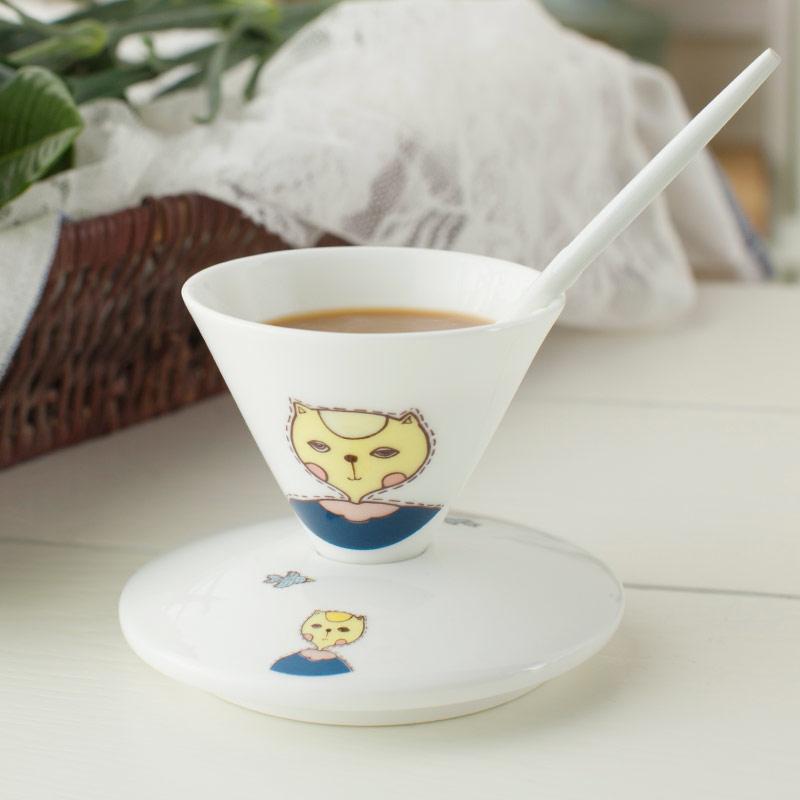 咖啡杯套裝歐式簡約骨瓷卡通 早餐陶瓷器杯牛奶杯子水杯含碟子