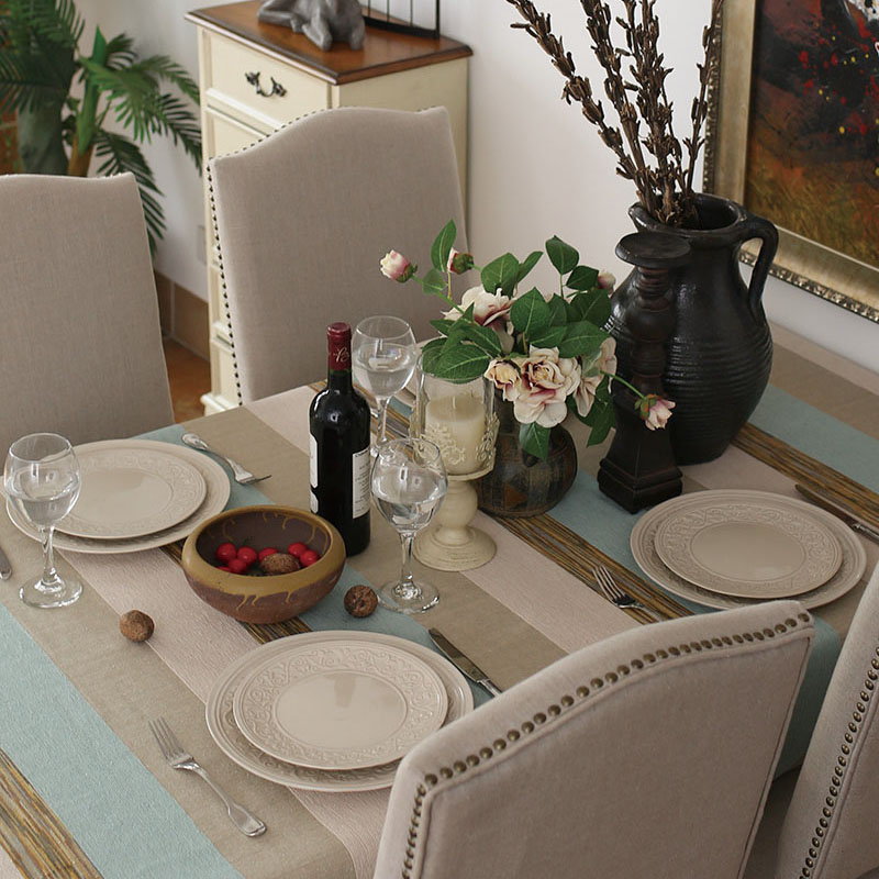 Старинные старые американские страны полосой скатерть Ресторан скатерти стол скатерть чай ткани крышки пользовательских