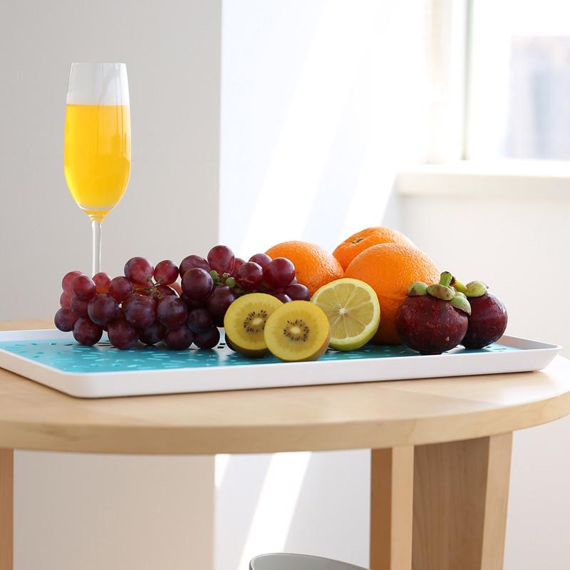洪客 塑料水果沥水托盘创意果盘 茶杯架杯托玻璃水杯架沥水盘茶盘