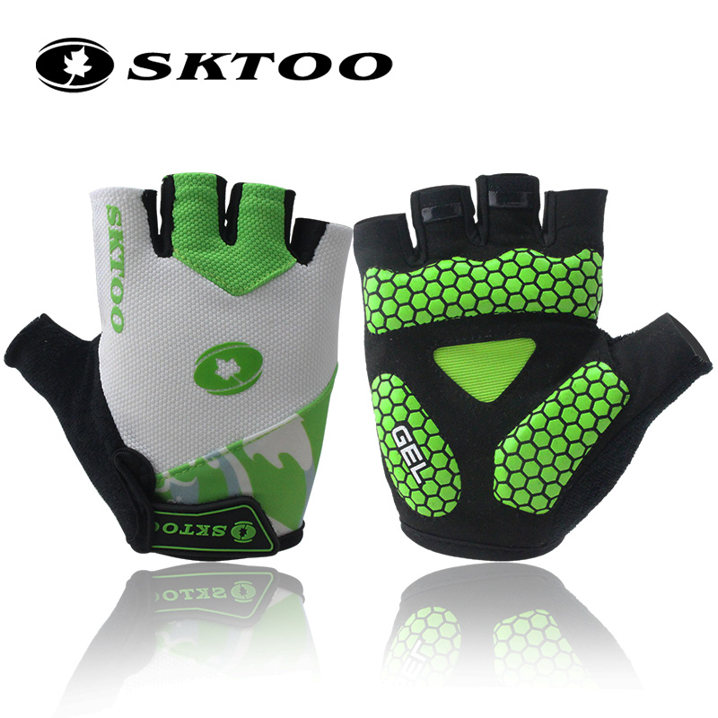 Sktoo Half Finger riding gloves spring and summer short finger thin breathable and antiskid mountain road bike mens and womens equipment
