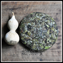 Apparently hall Fuding white tea spring of 2015 year life of eyebrow organic cake 1, 350 grams of white tea fragrance