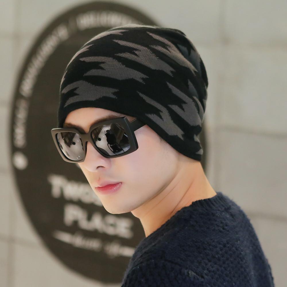 帽子男士 針織帽青年毛線帽男 潮冬天戶外 保暖帽套頭帽