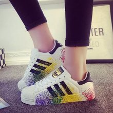 15 special shell head graffiti color injection shoes jinbiao injection color character painting three leisure bar splash-ink sandals