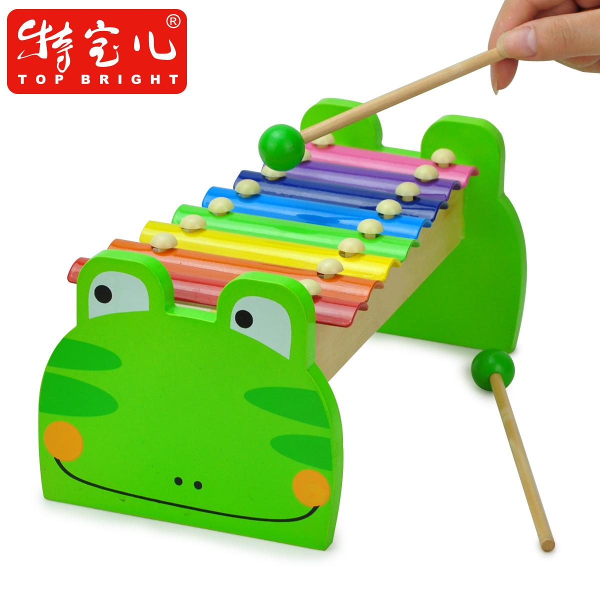 Боа восемь масштаба деревянных бить Детские игрушки стучать на фортепиано ноты детей стучать на фортепиано Музыкальные игрушки