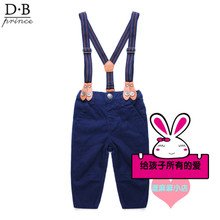 The new baby children's clothing han edition boy children pants denim overalls pure color pants trousers of spring tide spring model