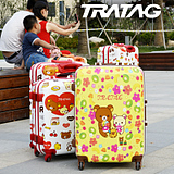 1ef6f82e1 USD $130.83; Genuine love TRATAG relaxation easily bear bear flowers trolley  suitcase 20/24/28 inch