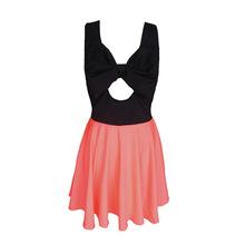 2014夏季欧美爆款女装连衣裙 性感露背高腰短款连衣裙女