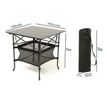 挪客户外铝合金折叠便携式轻便野餐桌旅游野外烧烤野露营桌子NH