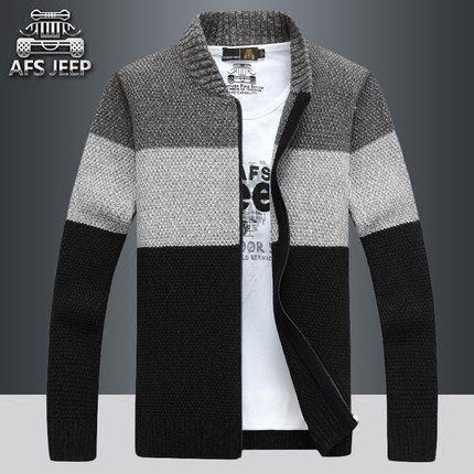 AFS JEEP Men's Youth Spring and Autumn New Sweater Cardigan Knitwear Men's Sweater Jacket