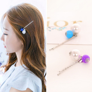 Know Nicole sweet small clear Pearl new bangs hair accessories clips Candy-colored Barrette clip Clip hairpin jewelry