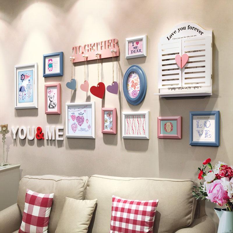 照片牆裝飾畫 簡約相框牆字母心形 客廳相片牆歐式掛牆