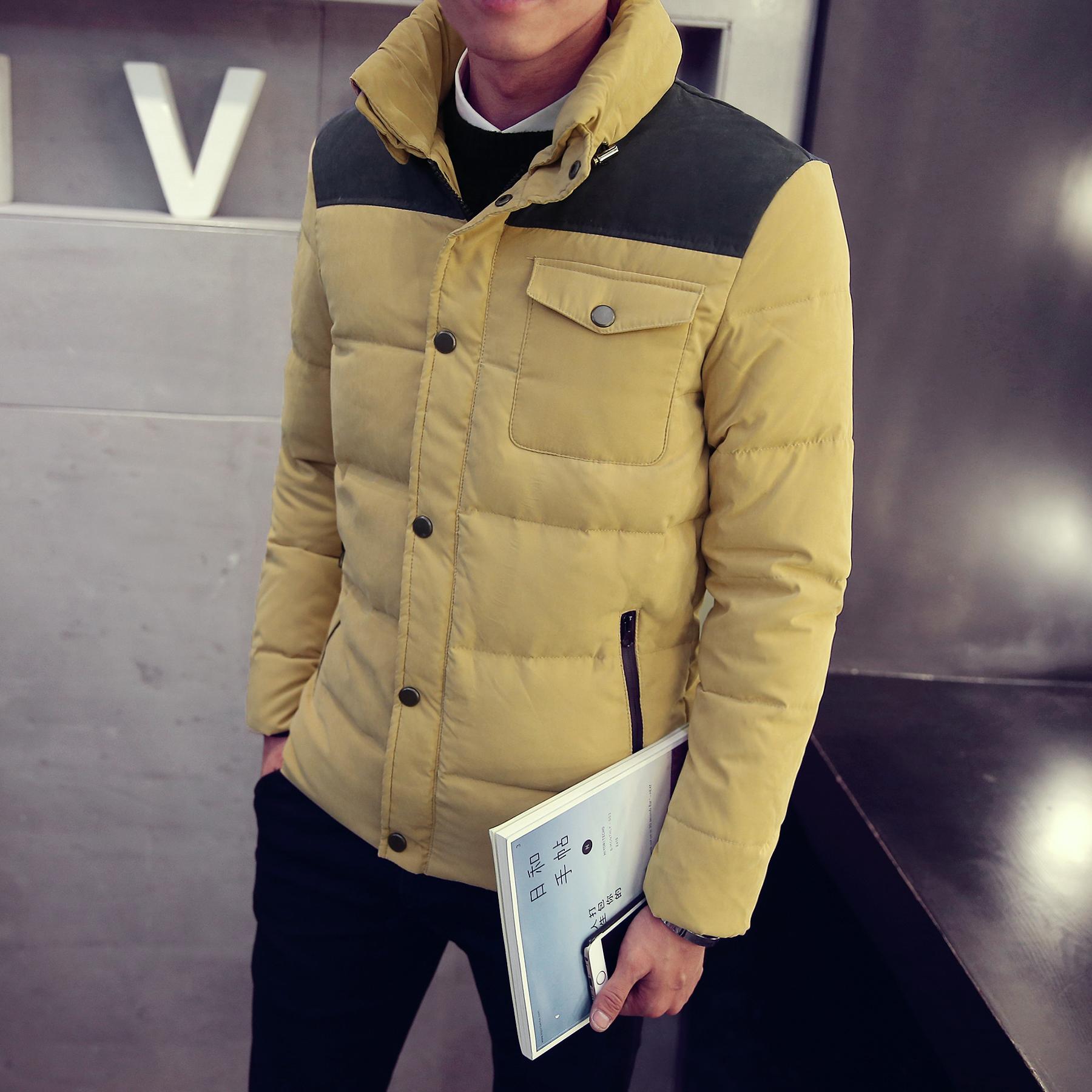 2015秋冬装男士 羽绒服男韩 版 男装90绒羽绒服外套男士冬装F08