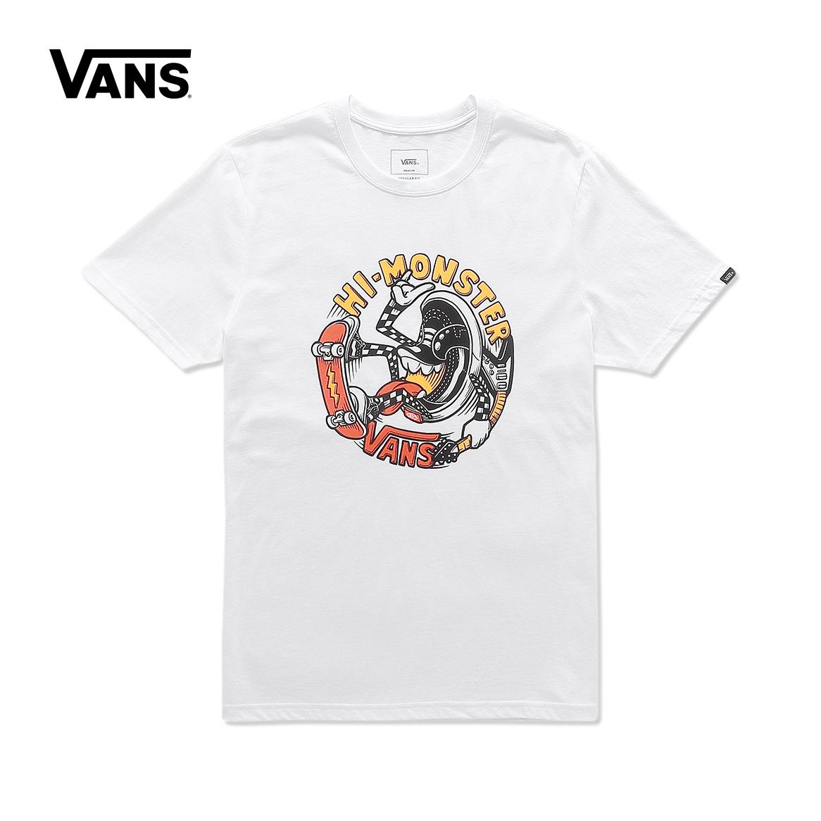 Vans/ модель этот осень белый мужской короткие женские модели рукав T футболки |VN0A3DEUWHT
