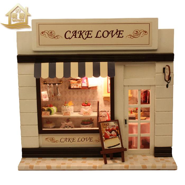 DIY кабина серии Мини-Европа магазин творческих головоломки игрушки, игрушки ручной работы модели праздничный подарок для девочек