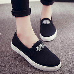 Hero sheep fall 2015 new style canvas shoes ladies shoes lazy a pedal leisure shoes flat shoes footwear
