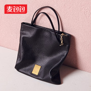 Wheat bags spring 2015 new suede leather tote big fashion Europe shoulder bag