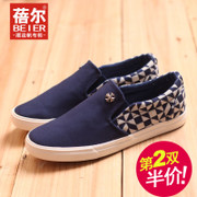 Becky was wearing canvas shoes men's lazy leisure shoes low Korean tidal flat shoes fall 2015 new