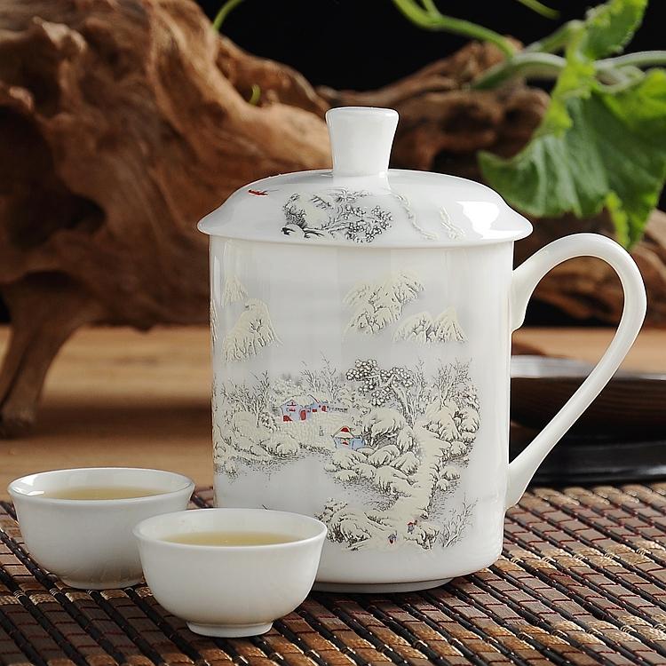 陶瓷杯 辦公室水杯茶杯 馬克杯帶蓋 杯子陶瓷 骨瓷杯 咖啡杯