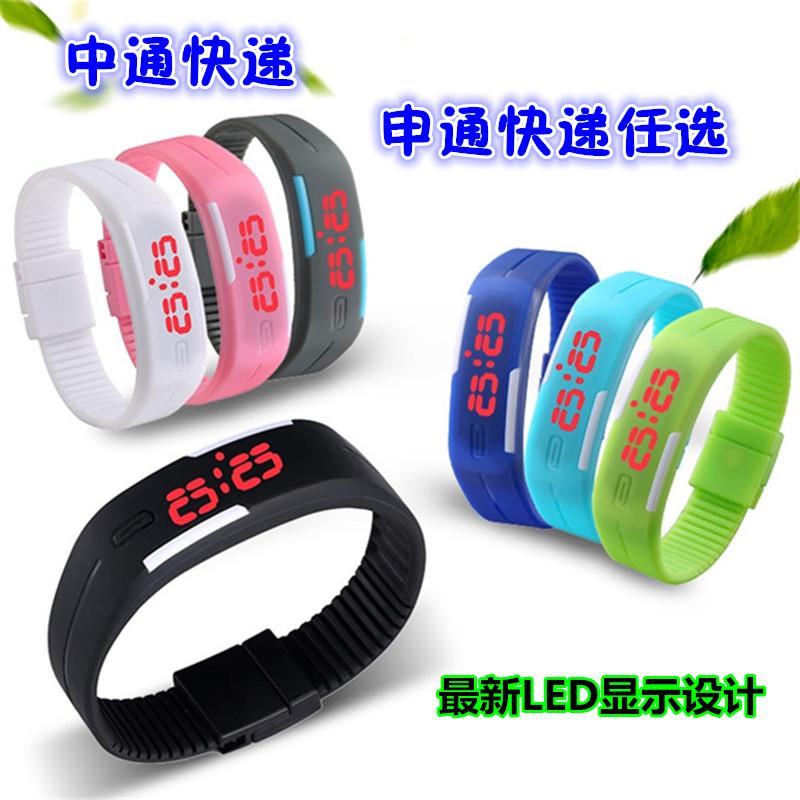 ПРИВЕЛО световой сенсорный часы желе браслет браслет смотреть моды для мужчин и женщин студентов сенсорный Цифровые Часы