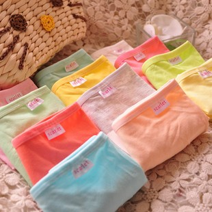 A001 solid color cotton candy cute sexy ladies underwear cotton briefs cotton fabric waist big yards