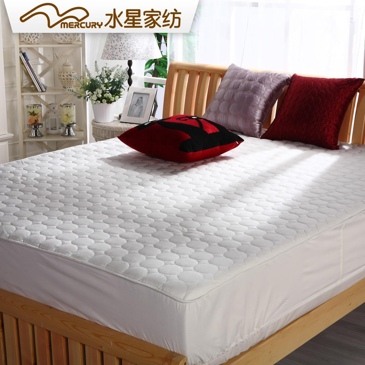 水星家纺床垫席梦思床笠简约防滑双人1.8m床垫保护套防尘罩套