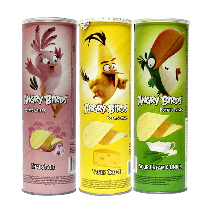 馬來西亞 憤怒小鳥薯片多口味100g^~3 送女友零食