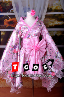 TCOS 1532 cosplay costumes improved Universal kimono style dress Lolita cos double cherry