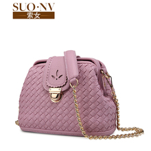 Cable women in Europe and the tide is one shoulder his 2015 new small bag woven bag fashion female bag chain doctor bag restoring ancient ways