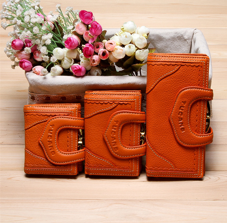 Postal wallet womens bag counter genuine leather womens Korean retro new long 30% off Wallet
