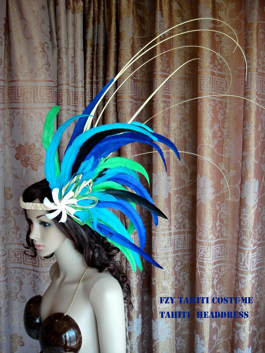 夏威夷草裙舞发饰大溪地草裙舞表演基础款头饰Tahiti headdress