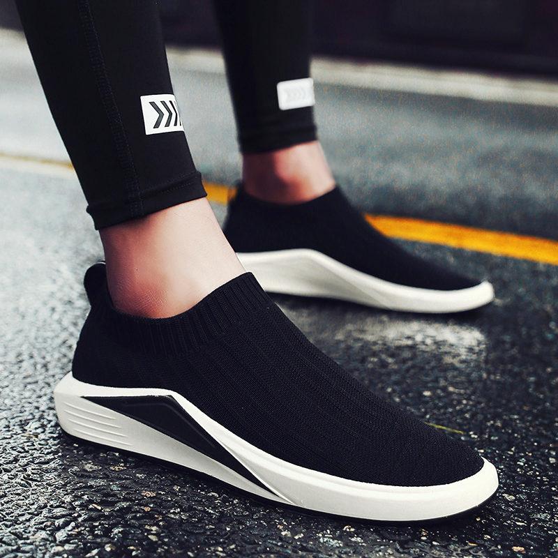 Лето холст обувь мужчина корейский воздухопроницаемый мужская обувь сын педаль носки обувь бездельник обувной мужской случайный обувь ткань обувная