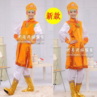 Mongolian Mongolian ethnic clothing clothing costume costumes dance skirt gown stage costume