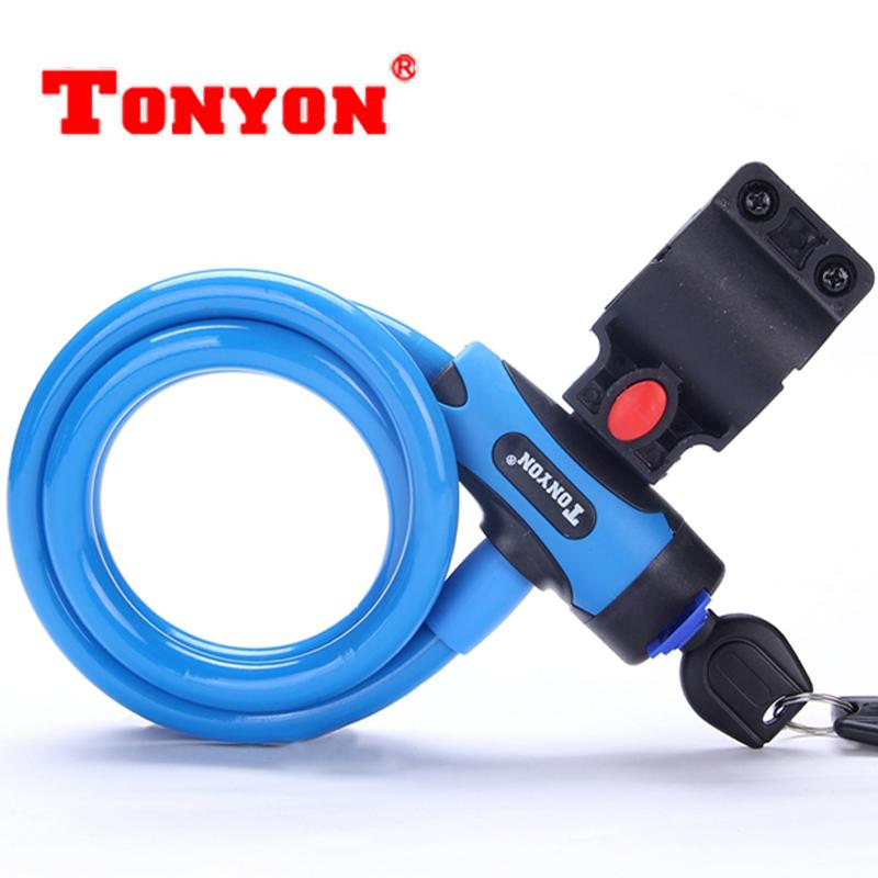 TONYON通用自行车锁 山地车电动车锁具钢丝锁 摩托车锁 单车配件