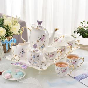 英格丽蝴蝶咖啡具陶...