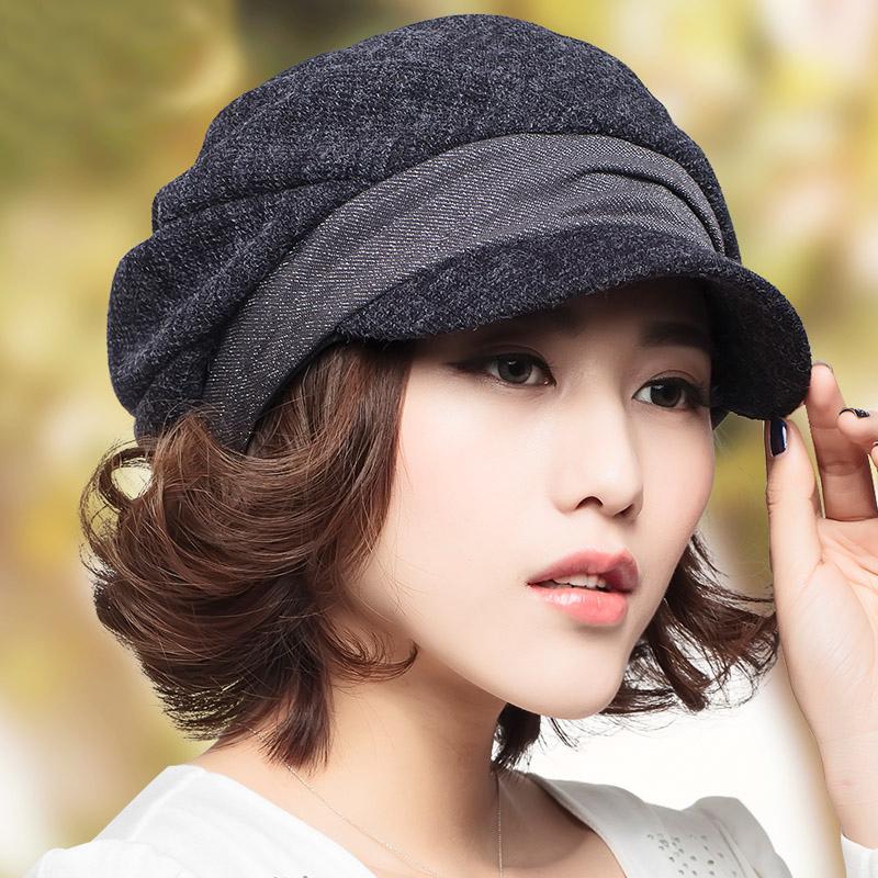 帽子女秋 潮貝雷帽 女帽八角帽英倫風畫家帽蓓蕾鴨舌帽