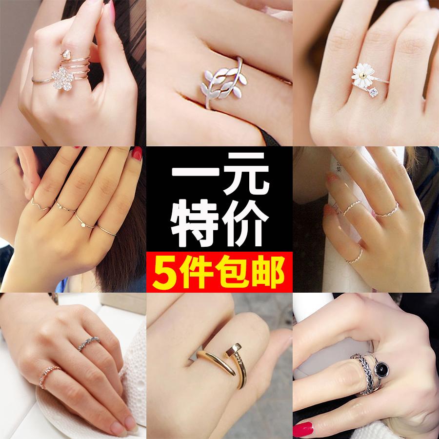 Серебро 925 пробы жемчужина аксессуары хвост сдаваться еда палец пара сдаваться открытие кольцо палец женщина япония и южная корея аксессуары кольцо хипстер