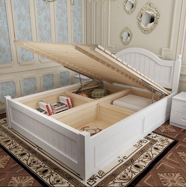 欧式实木高箱1.8米双人1.5储物床