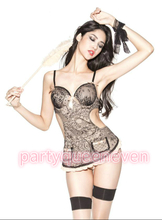 EvenVIP Italian foreign trade the original order and luxurious 3 color maid servant nightgown lingerie uniform temptation