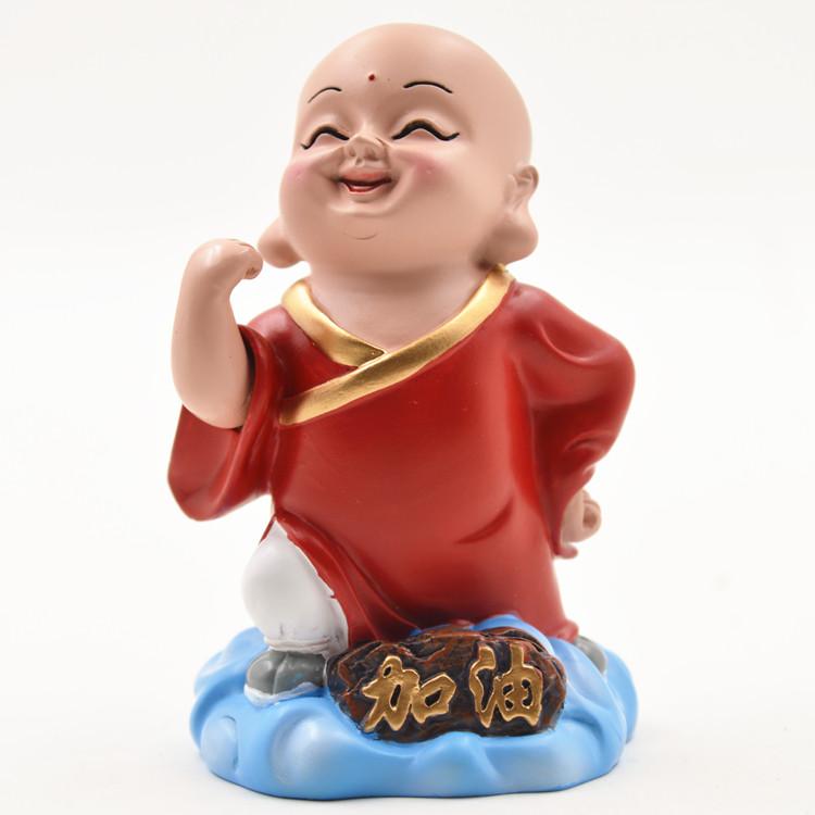祥云小和尚摆件民间工艺品泥塑惠山泥人中国风出国礼品旅游纪念品