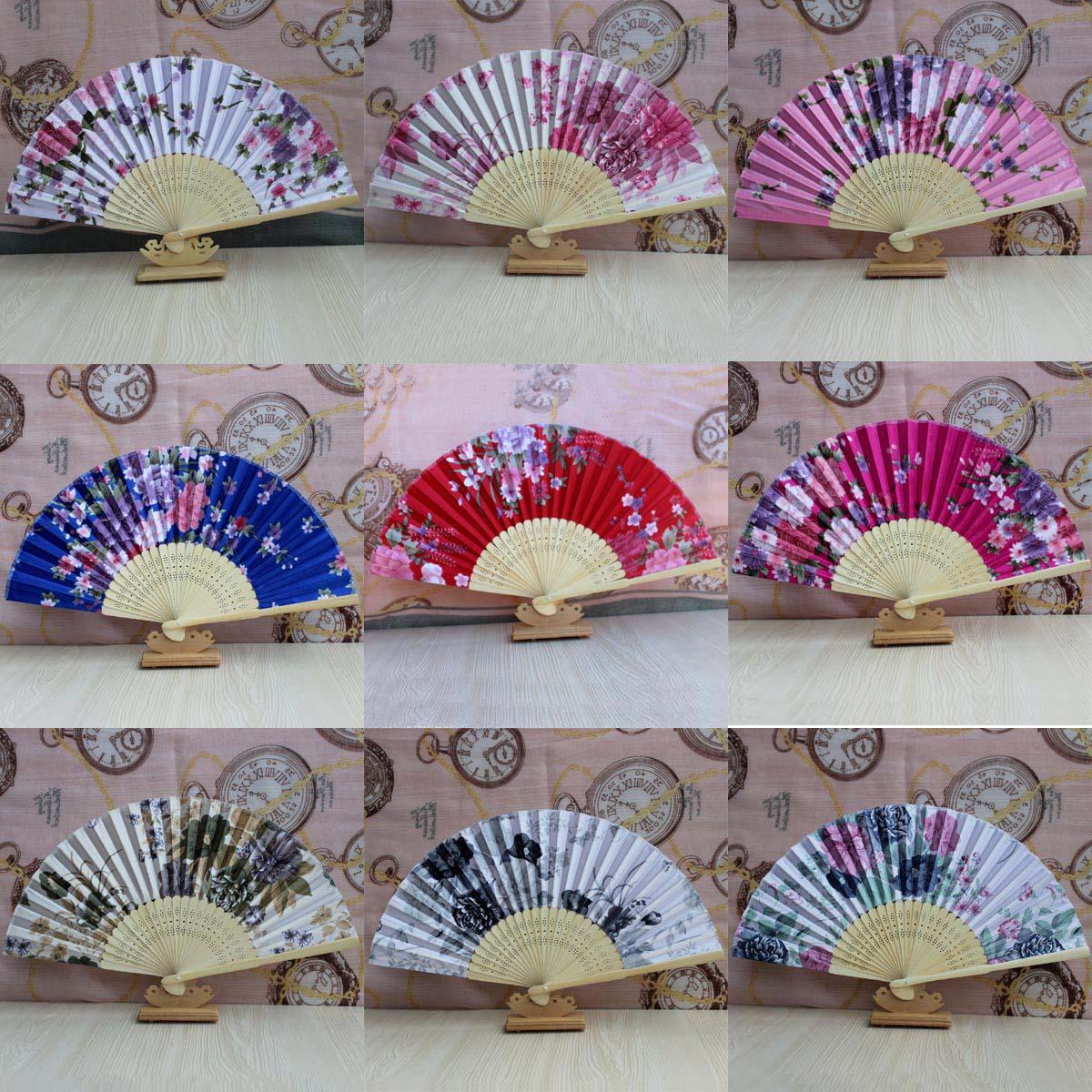 10把包邮中国风工艺日式和风女折扇旗袍装饰扇子21CM
