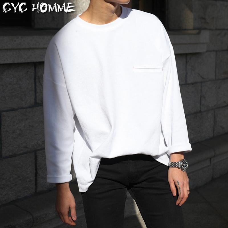 Cyc Homme2016秋裝 寬鬆版型潮流圓領男士長袖T恤衫 男款TEE