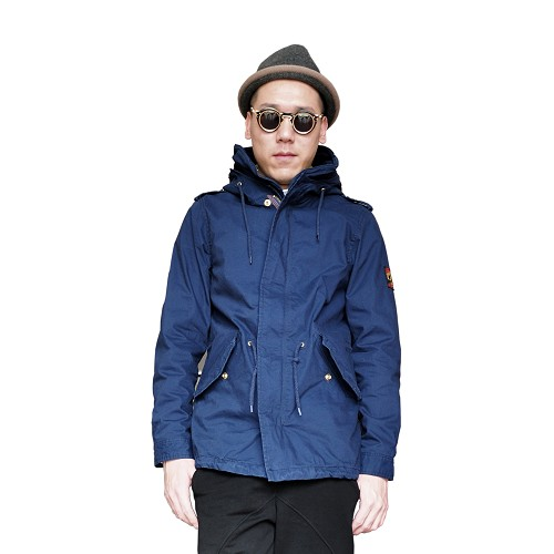 Autumn and winter Japanese high quality fashion mens mid long top hooded work jacket mens jacket