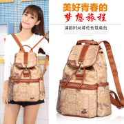 Female maifan Backpack Backpack schoolbag casual Korean version of the wave Map Pack retro bags ladies bags