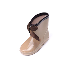 MR - BABY 2015 children's parents and galoshes Children fashion silk baby butterfly waterproof boots shoes